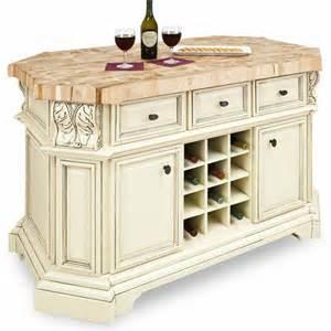 jeffrey kitchen islands jeffrey acanthus kitchen island with maple butcher block top in antique white and