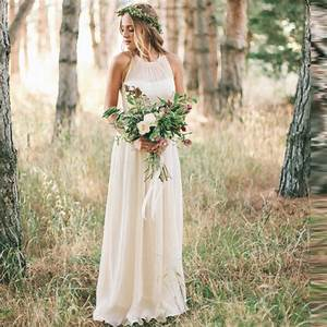 vestidos de novia chiffon simple wedding dresses 2016 With simple halter wedding dress