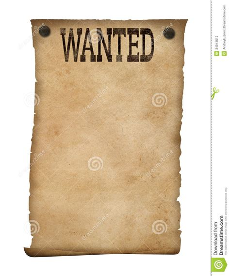 wanted poster isolated wild west background royalty