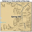 Spring Hill Florida Street Map 1268350