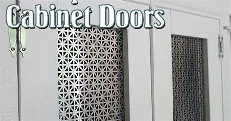 DIY open frame cabinet doors with decorative radiator