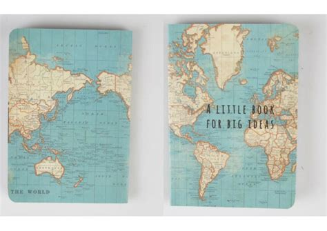 vintage world map atlas notebook a book for big ideas travel gift 5055356067691 ebay