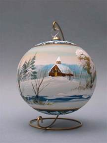 glass christmas ball hand painted by artist from artwilk christmas balls pinterest the