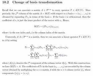 Orthonormalbasis Berechnen : linear algebra change of orthonormal basis ~ Themetempest.com Abrechnung