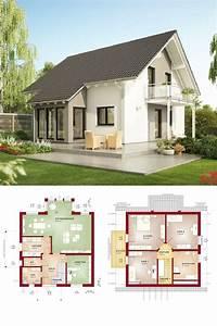 Satteldach-Haus klassisch mit Erker Anbau - Grundriss