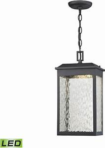 Elk led newcastle contemporary textured matte black