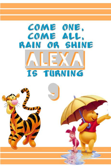 Winnie The Pooh Templates by Winnie The Pooh Template Postermywall