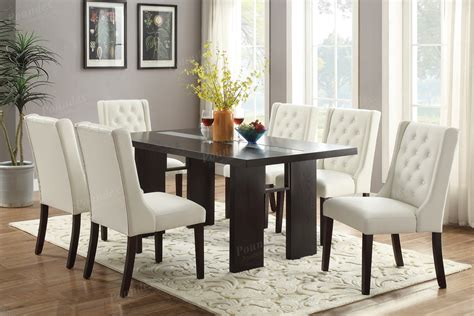 pcs contemporary tufted dining set