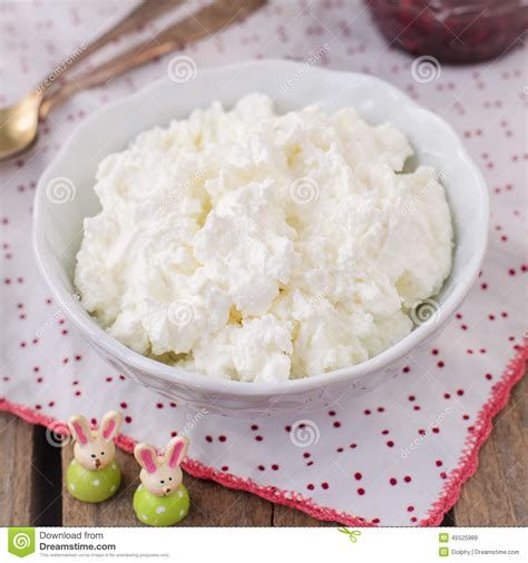 cottage cheese curd cottage cheese quark cheese curd in a white bowl