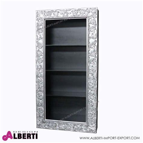 cornice 100 x 35 libreria barocco pensile argento con 3 ripiani 100 x 35 x