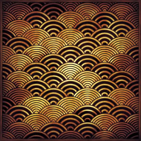 Japanese Traditional Waves Pattern, Seigaiha ɝ�海波 Pattern