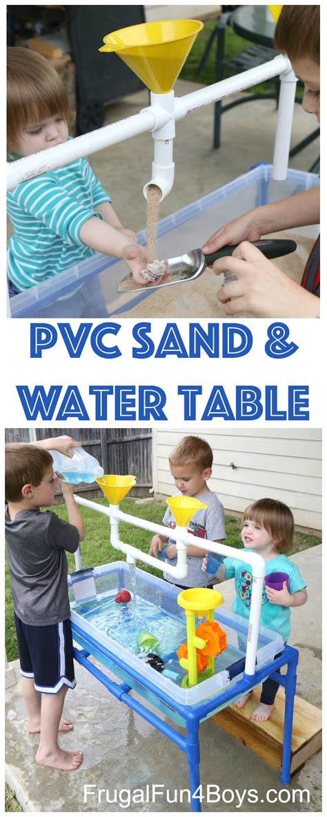 how to sand a table how to make a pvc pipe sand and water table frugal fun