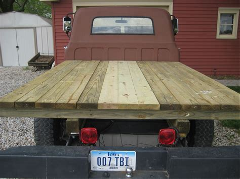 wooden truck bed woodworking plans building a wood flatbed for pickup truck