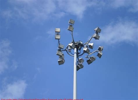 electrical installations high mast flood lighting