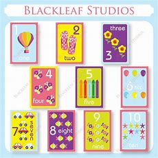 Numbers Flash Cards 1 To 10 Printable For Toddlers, Primary Education, Nursery…  Numbers Diy