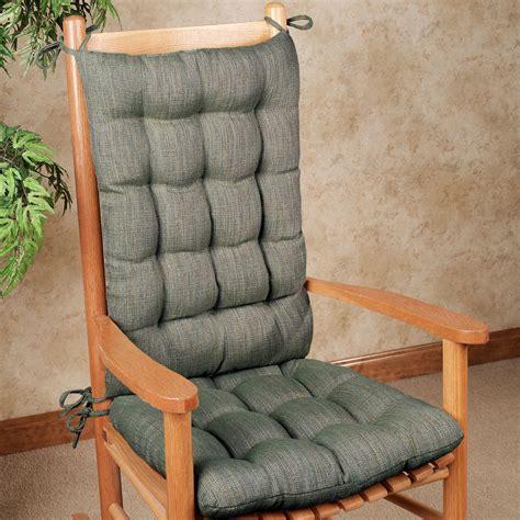 handsome tweed rocker chair cushion set