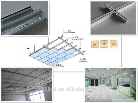 aluminum suspended ceiling grid for ceiling tile of