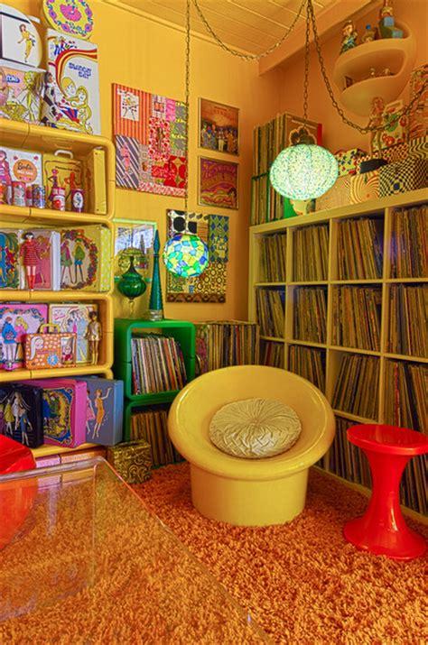 LA 70s Eclectic Living Room Los Angeles by Alex