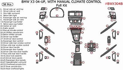 Bmw X3 Dash Trim Climate 2004 Control