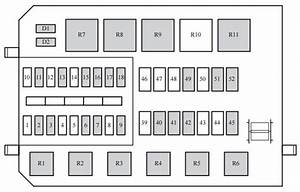 Mercury Cougar  1999 - 2002  - Fuse Box Diagram