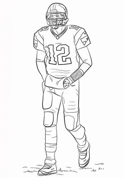 Coloring Football Printable Player Sheets Nfl Brady