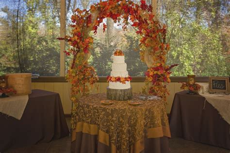 cake table outdoor fall wedding wedding reception decor
