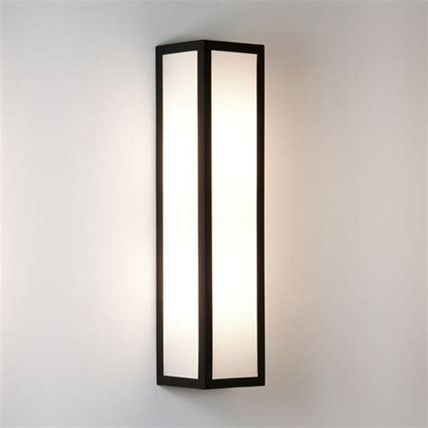 astro puzzle ip44 led outdoor flush wall light black finish clear glass 0931 from easy
