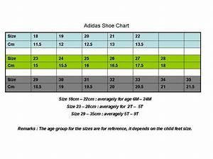Comelnye Baby Adidas Shoe Size Chart