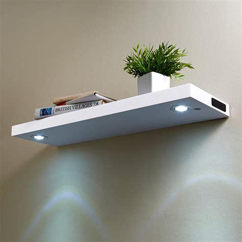 white two shelf led shelf 80cm white shelving b m