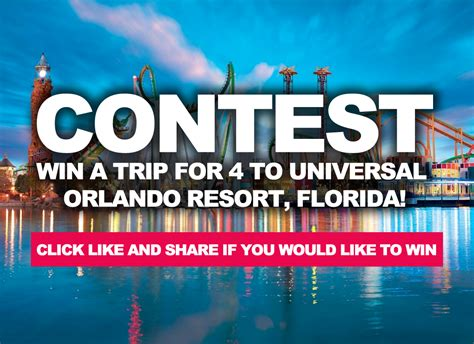 Win A Trip For 4 To Universal Orlando Resort, Florida
