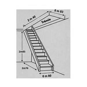 Dimension Escalier Droit Standard by Escalier Droit Sapin Mont 233 Avec Re Castorama