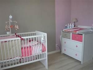 deco chambre bebe fille rose et gris With deco chambre bebe rose