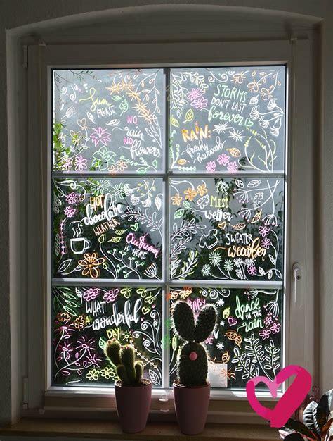 Herbst Fenster Bemalen by Diy Dekoidee Einfach Schriften Und Bilder Auf Fenster