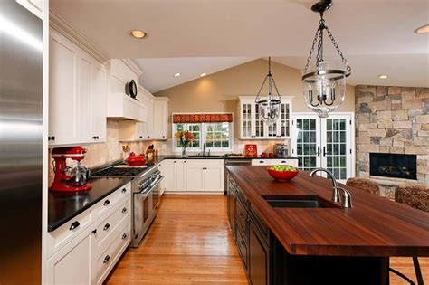 open concept kitchen dining room addition  hearth