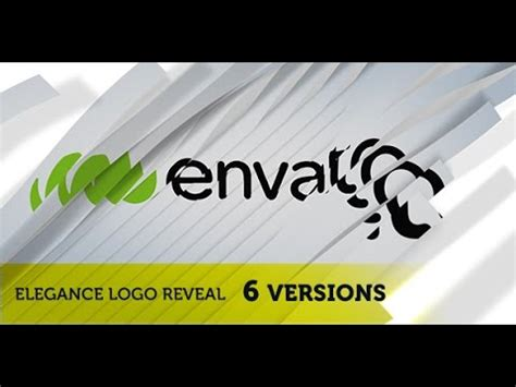 elegant clear ribbon logo reveal after effects template youtube