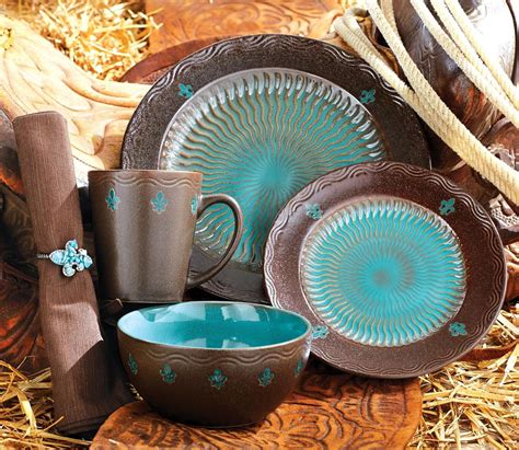 brown  turquoise kitchen decor monarch dinnerware
