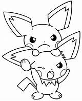 Coloring Pages Fan Electric Cute Pokemon Print Eevee Sheets Pichu Getcolorings Printable Together Little sketch template