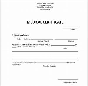 Medical certificate template microsoft word templates for Dr certificate template