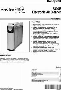 Honeywell F300e Users Manual 68 0240 Electronic Air Cleaner