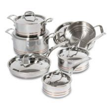 lagostina  ply copper clad cookware set  pc canadian