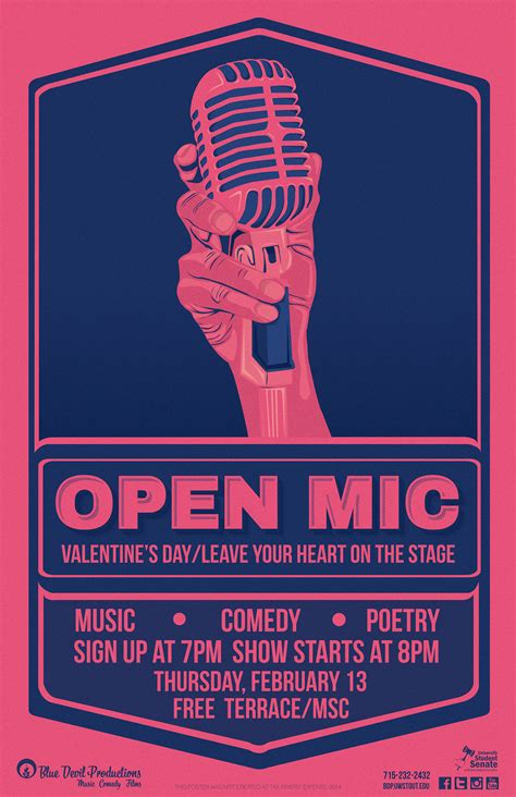 foto de Open Mic Event Poster/Media Series on Behance