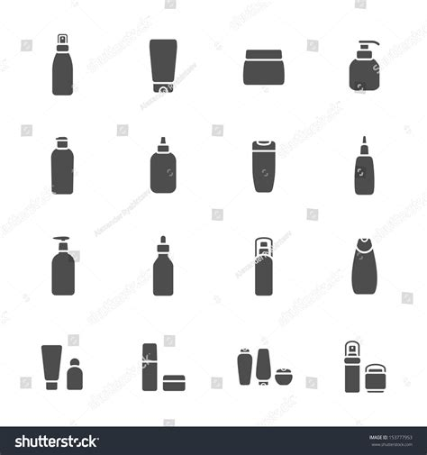 cosmetic bottle icons stock vector  shutterstock