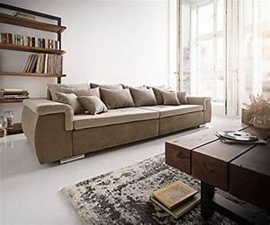 Couch Kissen Xxl : bigsofa navin braun grau 275x116 cm inklusive kissen xxl ~ Lateststills.com Haus und Dekorationen