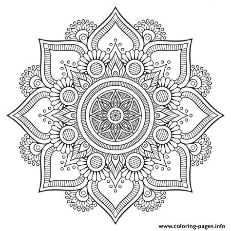 mandala floral background design hd coloring pages printable