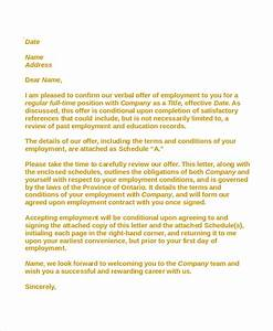 8 sample employment acceptance letters sample templates for Sample employment contract letter