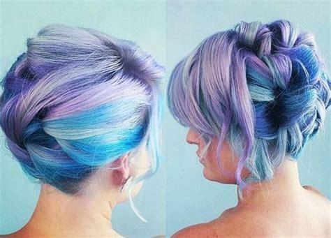 stylish striking blue hairstyles