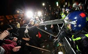 Bonfire Night: Thousands of masked protesters clash with ...