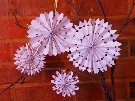 paper snowflakes inspiration rose