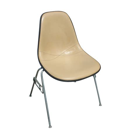 1 herman miller eames upholstered side shell chair