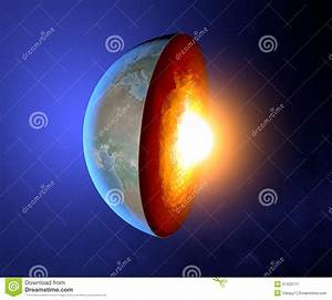 Earth U0026 39 S Core  Earth  World  Split  Geophysics Stock